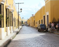 Color City Holiday, Izamal, Mexico, City street view