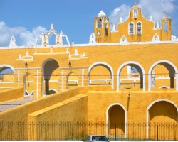 Color City Holiday, Izamal, Mexico, Monastery walls