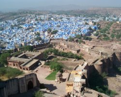 Color City Holiday, Jodhpur, India, City view from the fort