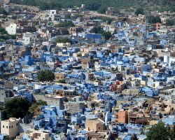 Color City Holiday, Jodhpur, India, City blue houses