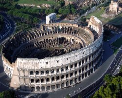 Colosseum, Rome, Italy, Aerial view
