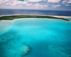 Unreal Paradise, Cook Islands, Lagoon aerial view