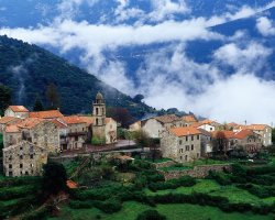 Corsica, France, Village in Alta Roca Region