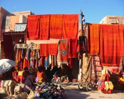 Country Holiday, Marrakech, Morocco, Carpets store
