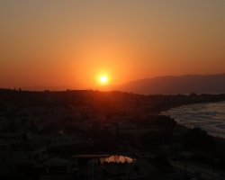 Crete, Greece, Sunset over Chania