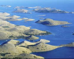 Croatian Beaches, Kornati, Croatia, Aerial view of the islands