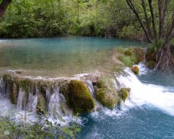Croatian Beaches, Plitvice, Croatia, Waterfall close view