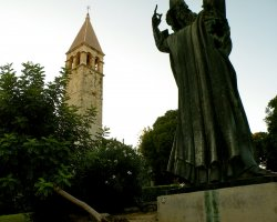 Split, Croatia, Croatian bishop monument