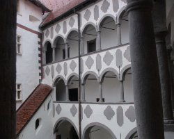 Veliki Tabor, Croatia, Interior courtyard view