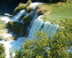 Krka National Park, Croatia, Visovac Skradin waterfall