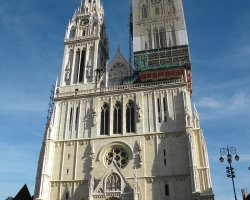 Croatia Holiday, Zagreb, Croatia, Cathedral Marijina Uznesenja facade view