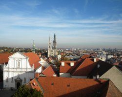 Croatia Holiday, Zagreb, Croatia, Cathedral Marijina Uznesenja city panorama