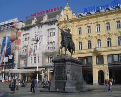 Croatia Holiday, Zagreb, Croatia, Ban Jelacic Square statue front view