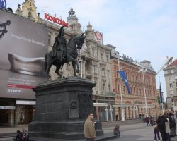 Croatia Holiday, Zagreb, Croatia, Ban Jelacic Square statue view