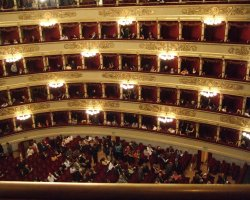 Cultural Holiday, Milan, Italy, La Scala Opera house interior view