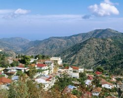 Cyprus, Europe, Pedulas Troodos overview