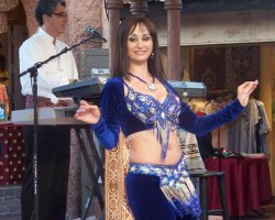 Dance Holiday, Morocco, Belly Dancer on stage