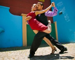 Dance Holiday, Argentina, Tango Dancers on street