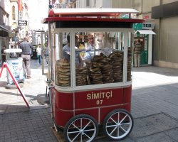Delicious snacks, Simit, Turkey, Salesman presentation 02