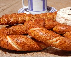 Delicious snacks, Simit, Turkey, Presentation 03