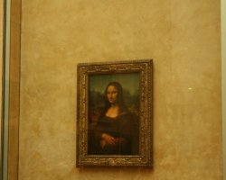 Disappointing Holiday, Mona Lisa, Paris, France, Portrait view