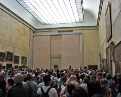 Disappointing Holiday, Mona Lisa, Paris, France, Louvre Museum crowded day