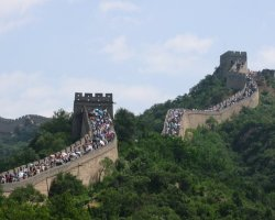 Disappointing Holiday, Great Wall, China, Asia, Crowded day