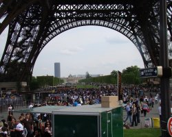 Disappointing Holiday, Eiffel Tower, Paris, France, Crowds on queue