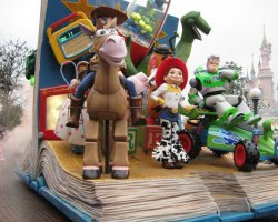 Paris, France, Disneyland Parade - Toy Story characters
