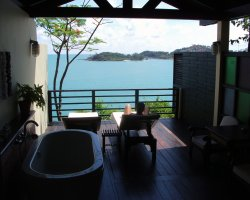 Dream Baths Holiday, Thailand, Tongsai Bay Cottages and Hotel bathroom panorama