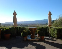 Wine Land Holiday, Napa Valley, California, USA, Auberge du Soleil terrace overview