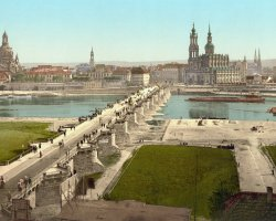Dresden, Germany, An old photo of the city