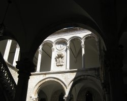 Tourist Attraction, Dubrovnik, Croatia, Rectors Palace interior courtyard