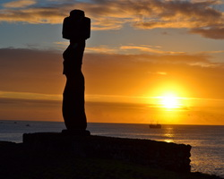 Easter Island, Chile, South America, Sunset