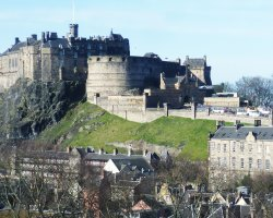 Edinburgh Castle, Scotland, United Kingdom, view from southeast