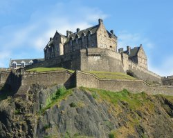 Edinburgh Castle, Scotland, United Kingdom, far view