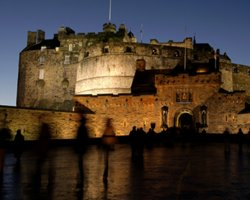 Edinburgh Castle, Scotland, United Kingdom, night view