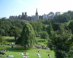 Edinburgh, Scotland, The park and old town