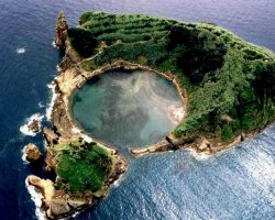 Eternal Spring Holiday, Azoer Islands, Aerial island view