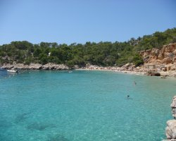 Europe Islands, Ibiza, Spain, Beach overview