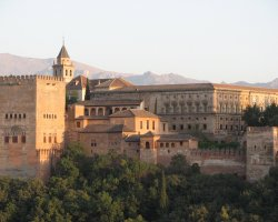 European Palaces, Alhambra Castle, Granada, Andalusia, Spain, Overview