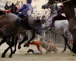 Exciting Destinations, Siena, Italy, Palio Horse Race, Racers injured