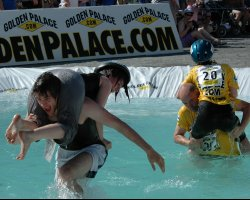 Exciting Destinations, Sonkajarvi, Finland, Wife Carrying World Championships, Pool passing