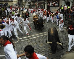 Exciting Destinations, Pamplona, Spain, Running of the Bulls, Racers 04
