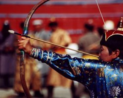 Exciting Destinations, Ulaanbaatar, Mongolia, Naadam Festival, Archer