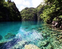 Exotic Holiday Destination, Palawan, Philippines, Lagoon waters view