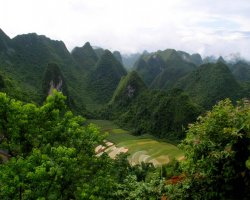 Exotic Holiday Destination, Leye Fengshan, China, Geopark aerial view