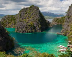 Exotic Holiday Destination, Palawan, Philippines, Lagoon overall view