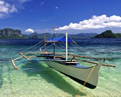 Exotic Holiday Destination, Palawan, Philippines, Lagoon trip local boat