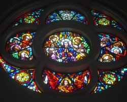 Exotic Vacations, Panama City, Panama, Metropolitan Cathedral stained window